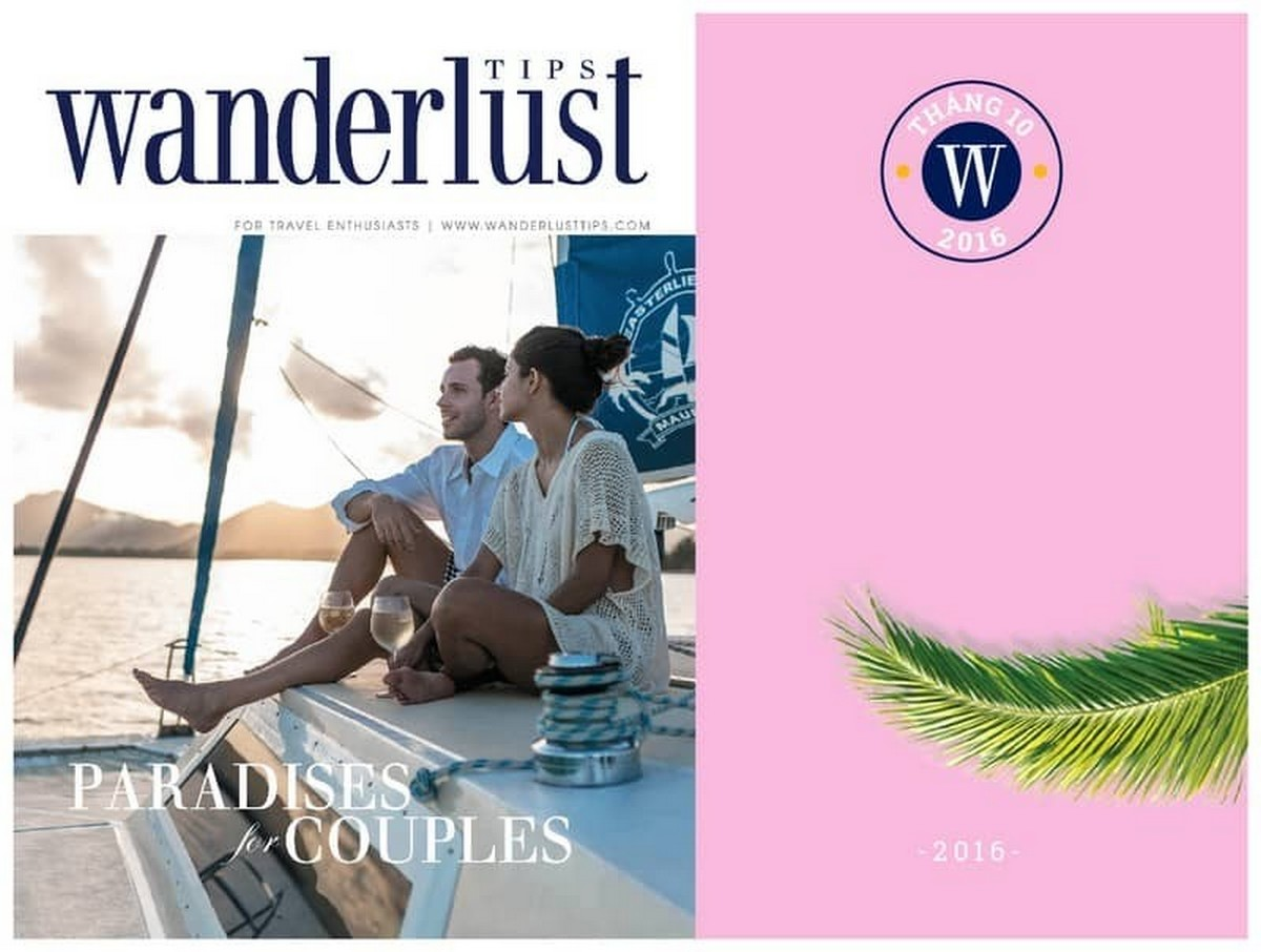 Wanderlust Tips Magazine | Wanderlust Tips travel magazine's October issue 2016: Paradises for couples