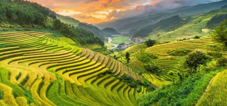 Mu Cang Chai during monsoon season