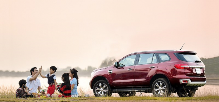 Family travel with Ford Everest