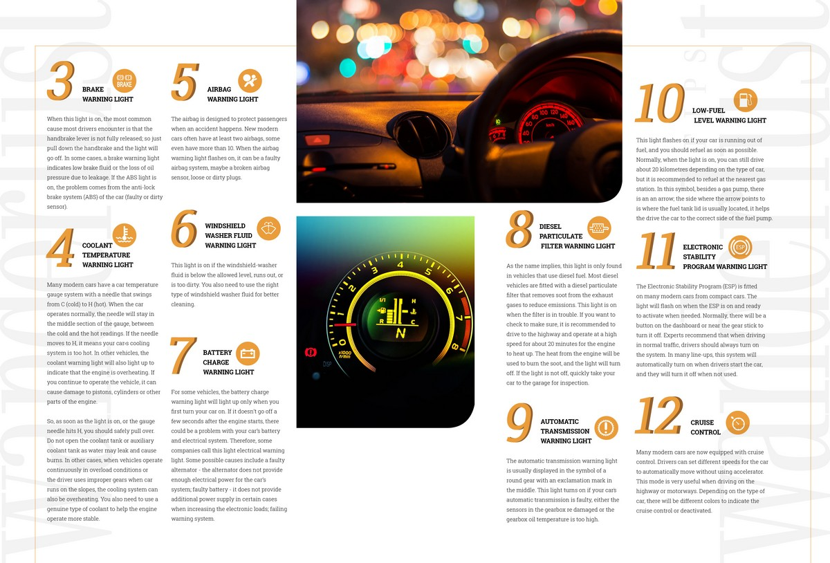 Wanderlust Tips Magazine | 12 The meanings behind warning lights on the car's dashboard