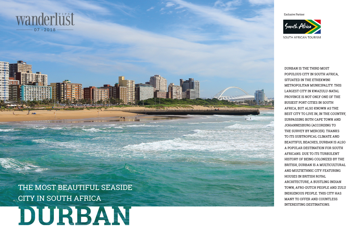 Wanderlust Tips Magazine | Durban - the most beautiful seaside city in South Africa