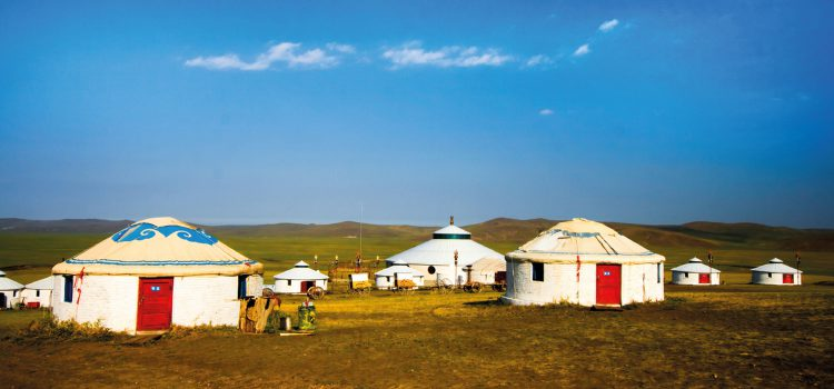 The unique yurt tent of the Mongols
