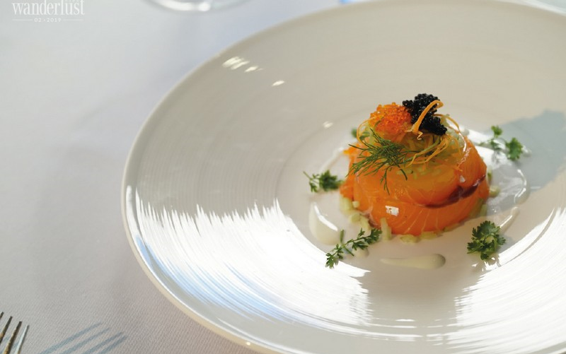 The very first michelin starred menu onboard president cruises in Halong Bay