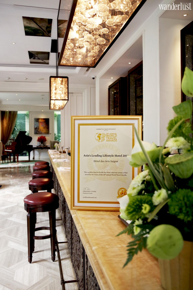 Wanderlust Tips | Hôtel des Arts Saigon crowned as Asia's Leading Lifestyle Hotel by World Travel Awards & Vietnam's Luxury Hotel by World Luxury Hotel Awards