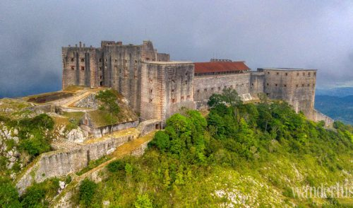 The imposing stone fortresses in Haiti