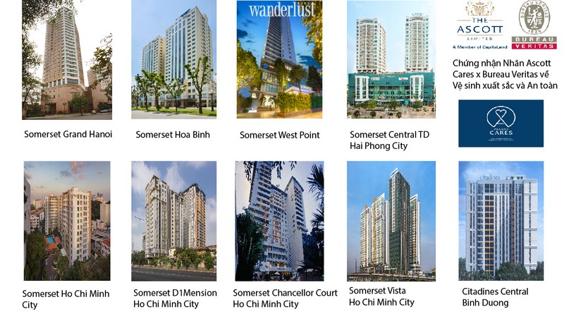 Wanderlust Tips Travel Magazine | Ascott Vietnam certified with Hygiene Excellence and Safety Label
